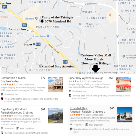 Local Accomodations for ASCSI 2018